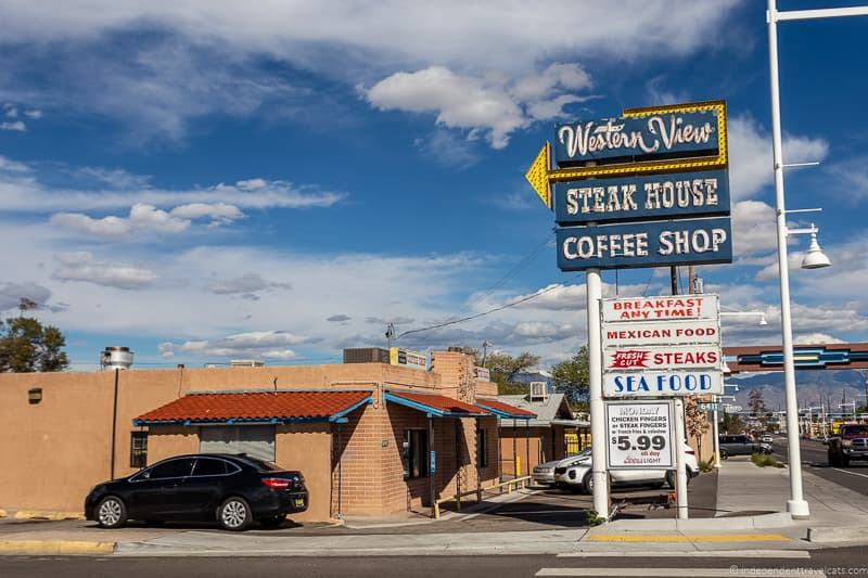Western View Steak House Route 66 in Albuquerque New Mexico attractions