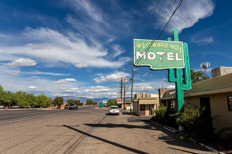 Westward Ho Motel Route 66 in Albuquerque New Mexico attractions