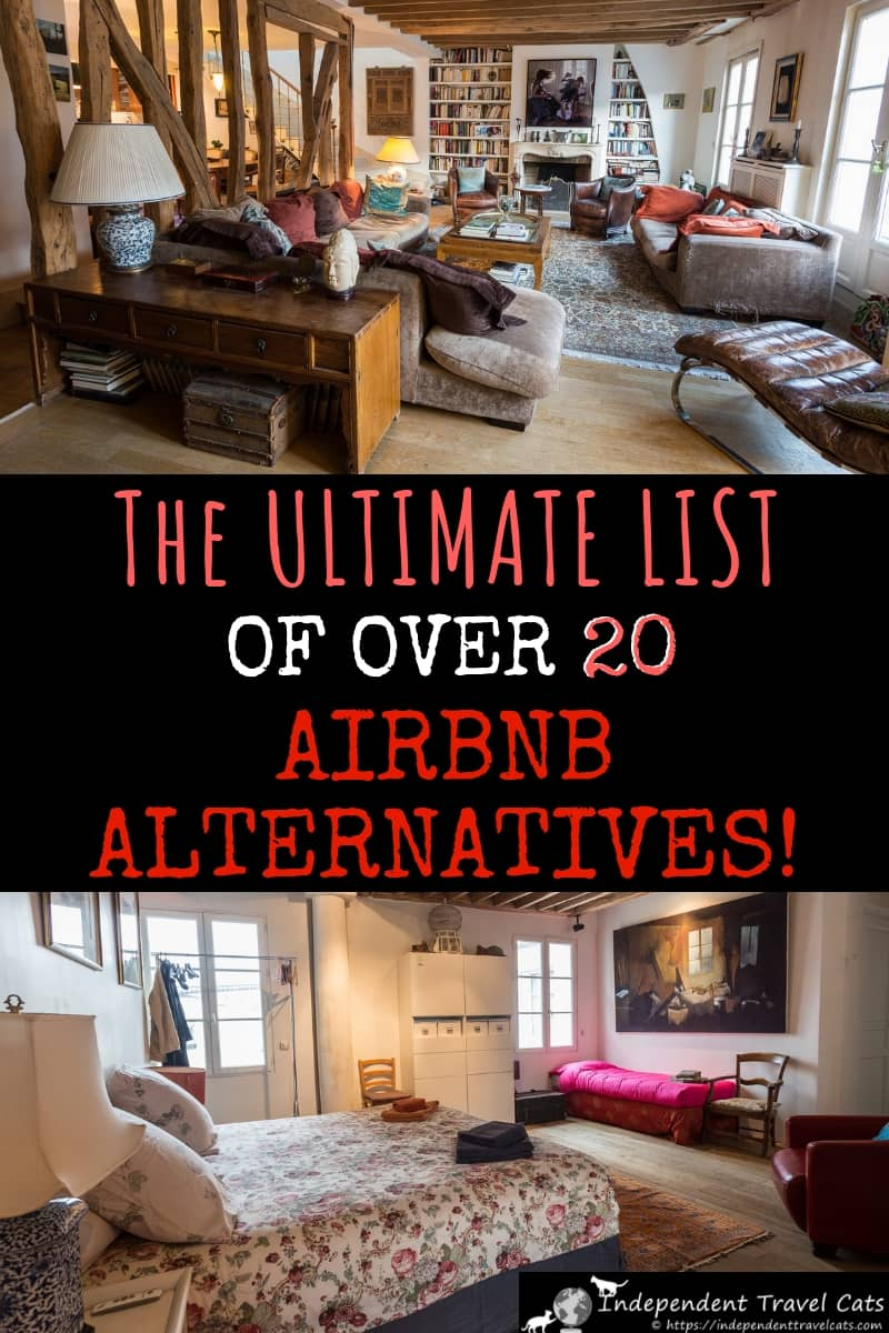 Looking for alternatives to AirBnb to book your next vacation rental or apartment? This guide provides information on over 20 apartment and vacation rental websites like AirBnb so you can book your next apartment! #Airbnb #Airbnbalternatives #traveltips #lodging #travel #accommodation #apartments #wheretostay #selfcatering #bookingwebsites