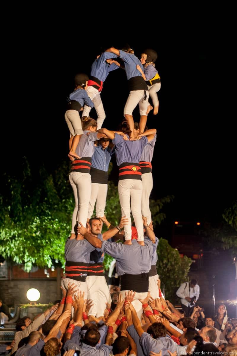 castells things to do in the Spanish Pyrenees in Catalonia Spain