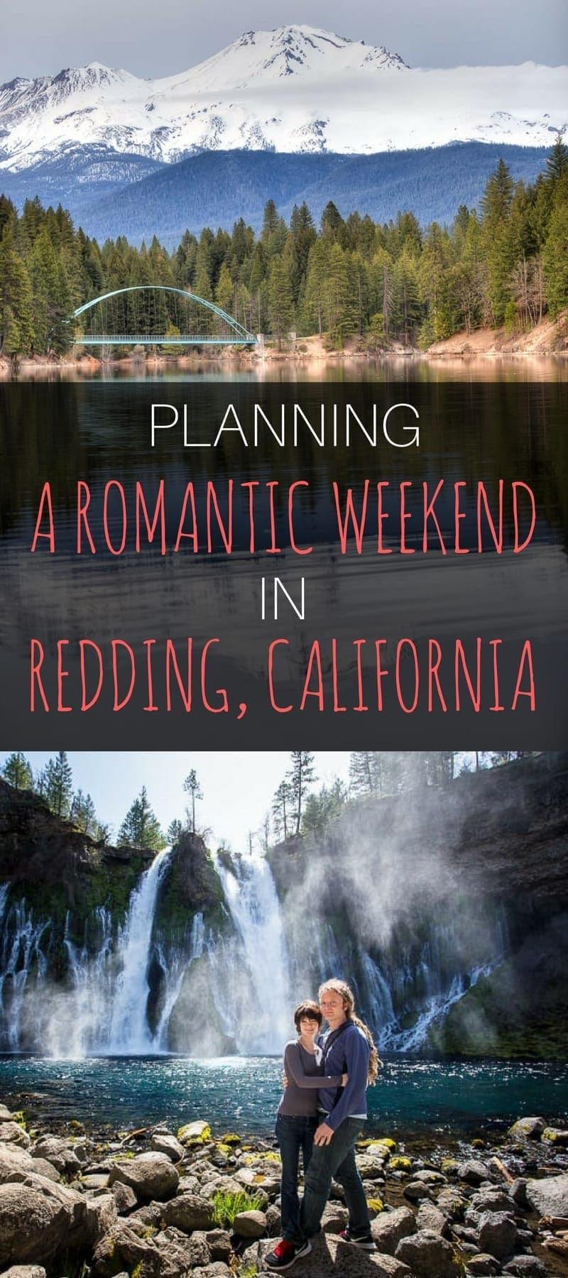 Northern California is a perfect place to escape the crowds and spend some time communing with nature. The entire Shasta Cascade region is an easy drive from Redding California and a perfect place for a romantic weekend away in California. We'll share where to go, what to see, where to eat, and where to stay!