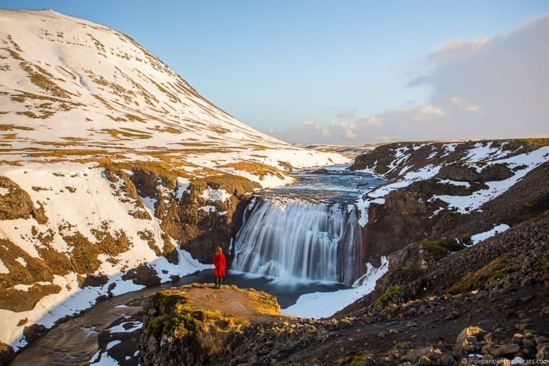 Þórufoss Waterfall 7 day Iceland itinerary by car road trip