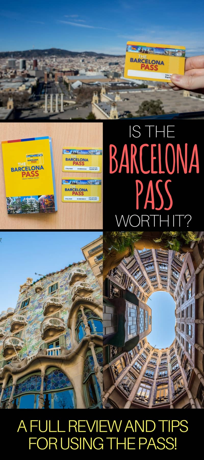 Tips for buying & using the Go Barcelona Pass, as well as how to calculate if the Go Barcelona Pass is worth it for your trip to Barcelona Spain. Also loads of advice to help you plan your trip to Barcelona.