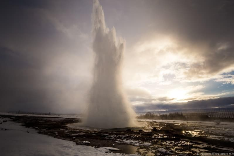 Geysir geyser 7 day Iceland itinerary by car one week road trip