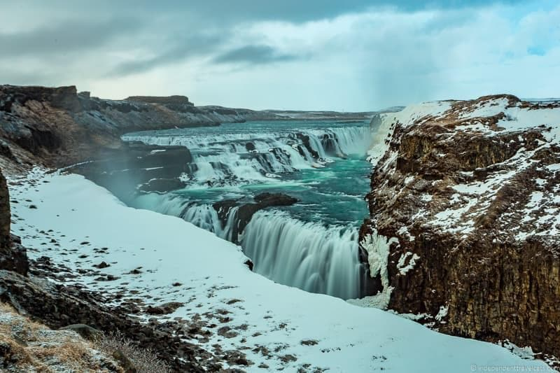 Gullfoss waterfall 7 day Iceland itinerary by car one week road trip