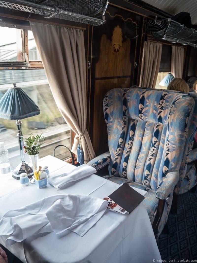 British Pullman train Gwen carriage car