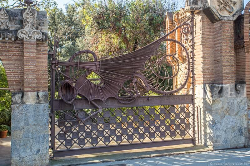 dragon gate Finca Guell guide to Gaudí sites in Barcelona Spain