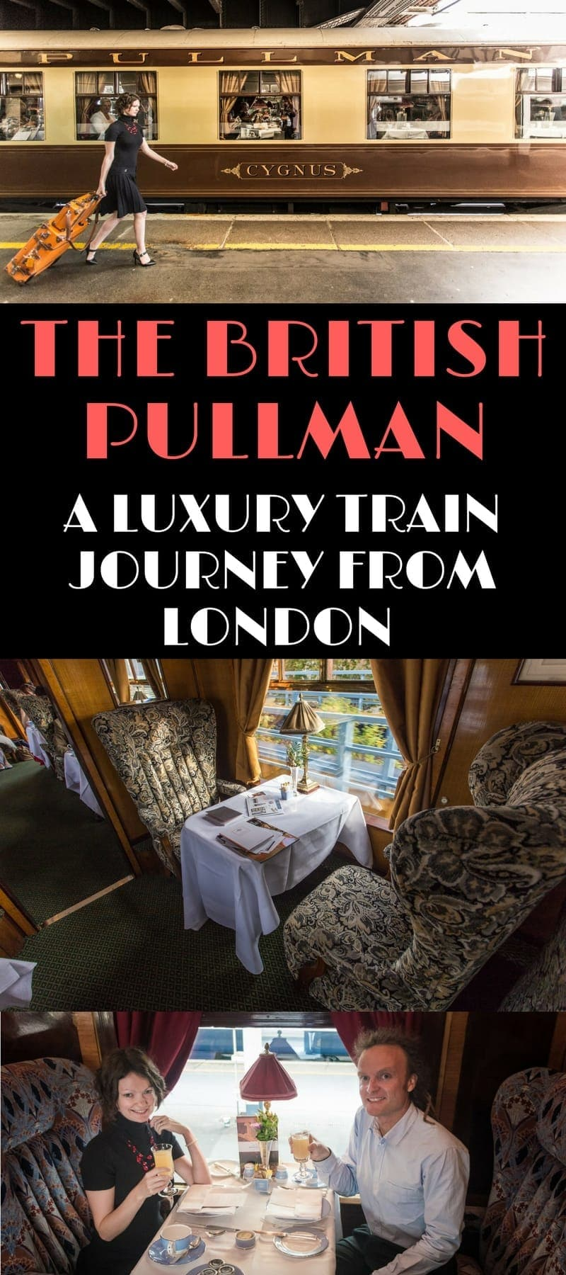 A guide to taking a ride on the Belmond British Pullman train - a luxury train composed of beautifully restored British Pullman train carriages. We'll share info on its routes, cost, how to book it, and share loads of photos from our own journey.