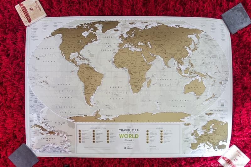 scratch off map Travel Home Decor Handmade Travel Themed Home Decorations