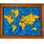 world map wall art Travel Home Decor Handmade Travel Themed Home Decorations