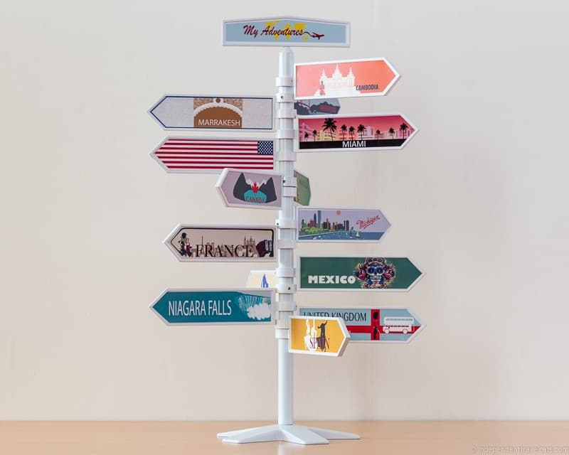 travel signpost tree travel home decor handmade travel themed home decorations