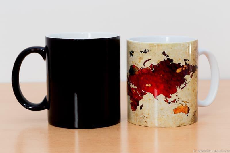 map coffee mug Travel Home Decor Handmade Travel Themed Home Decorations