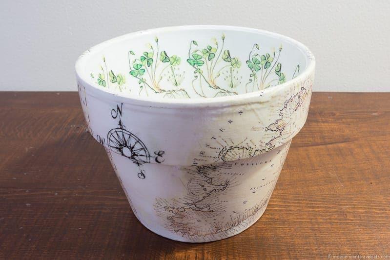 Ireland planter pot Travel Home Decor Handmade Travel Themed Home Decorations