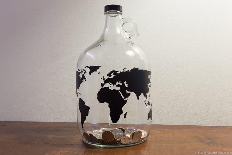 vacation fund jar travel home decor handmade travel themed home decorations - Travel Home Decor