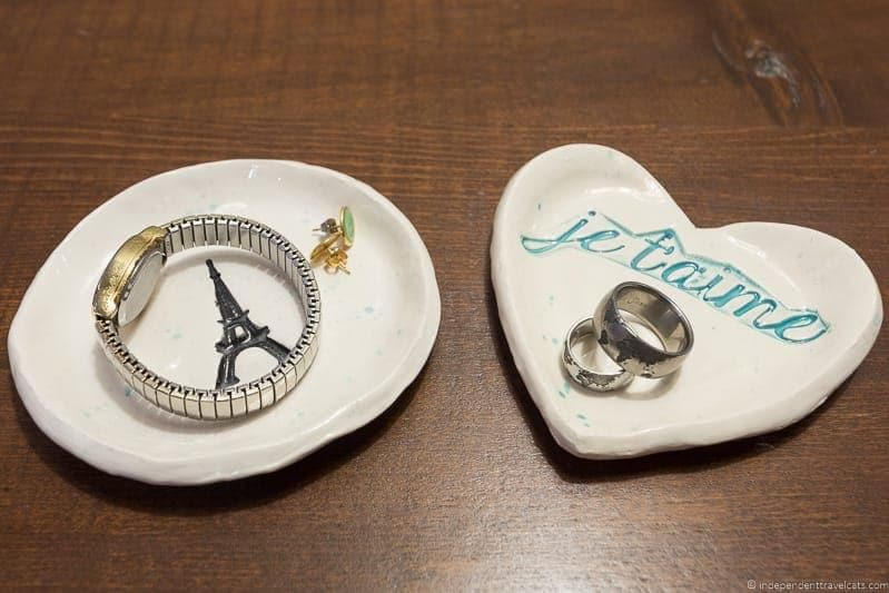 Paris ring dishes Travel Home Decor Handmade Travel Themed Home Decorations