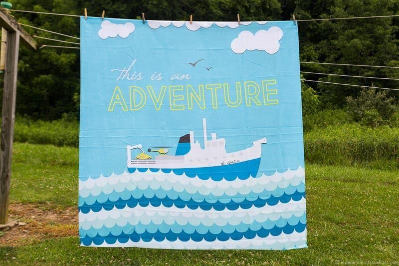 nautical shower curtain Travel Home Decor Handmade Travel Themed Home Decorations