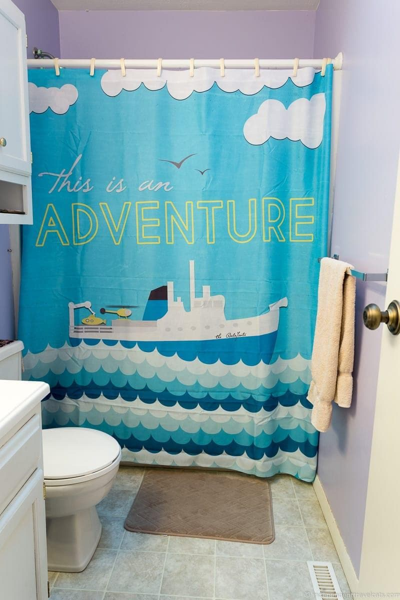boat shower curtain Travel Home Decor Handmade Travel Themed Home Decorations