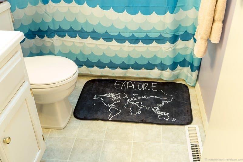 map bath mat Travel Home Decor Handmade Travel Themed Home Decorations