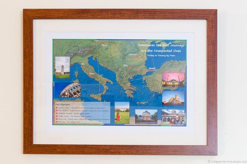 customized map Travel Home Decor Handmade Travel Themed Home Decorations