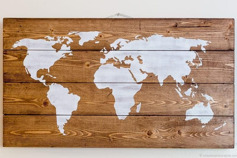 world map Travel Home Decor Handmade Travel Themed Home Decorations