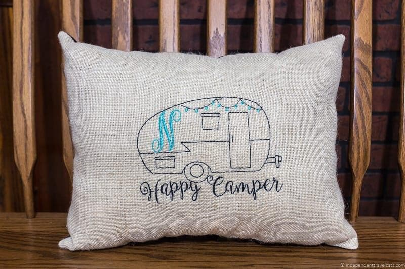 camper pillow Travel Home Decor Handmade Travel Themed Home Decorations