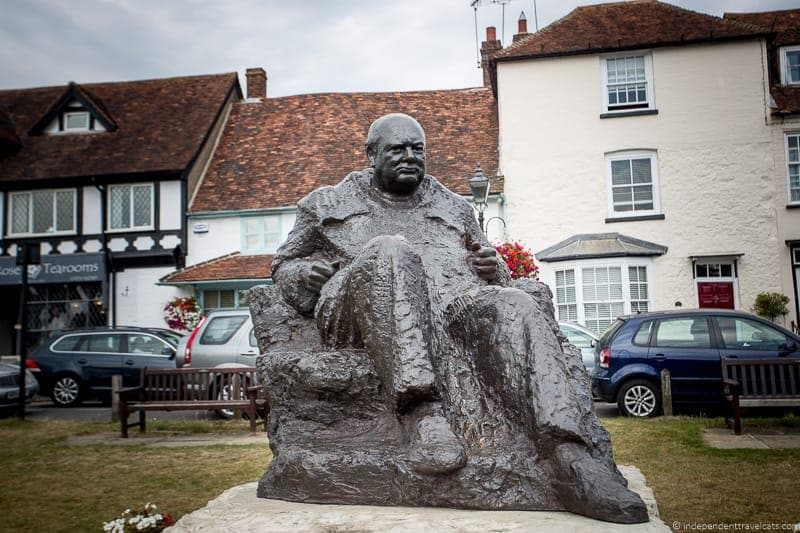 Churchill statue in Westerham top Winston Churchill sites in England