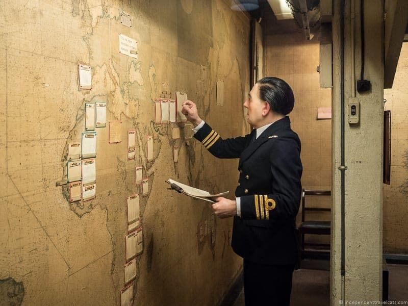 Church War Rooms Map Room - best Winston Churchill sites in London England