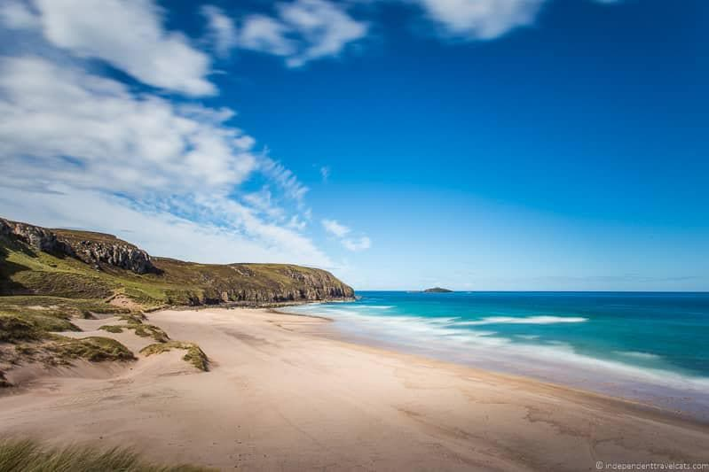 Sandwood Bay beach North Coast 500 road trip guide