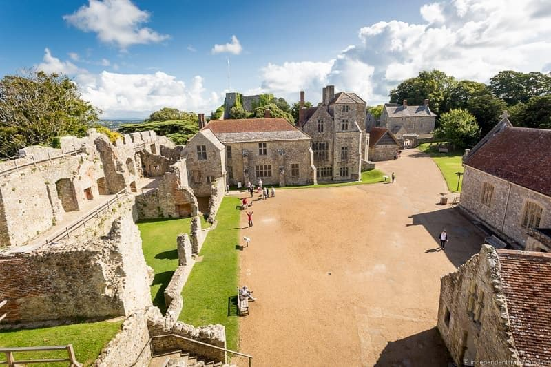 Carisbrooke Castle visiting Isle of Wight Queen Victoria Trail sites