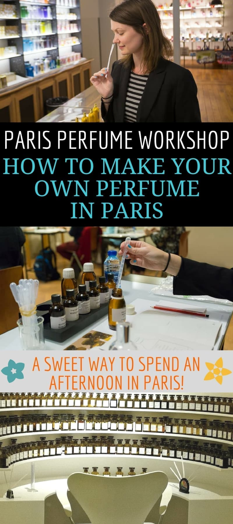 A guide to Paris perfume workshops. Want to make your own custom perfume in Paris France? We'll tell you about Paris perfume workshops, how you can book one, and share our own experiences at the Fragonard Perfume Workshop in Paris. You can also visit the perfume museum in Paris for free! #Paris #perfume #perfumeworkshop #Fragonard #perfumemuseum #Frenchperfume