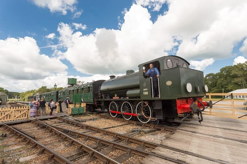 steam railway visiting Isle of Wight Queen Victoria Trail sites