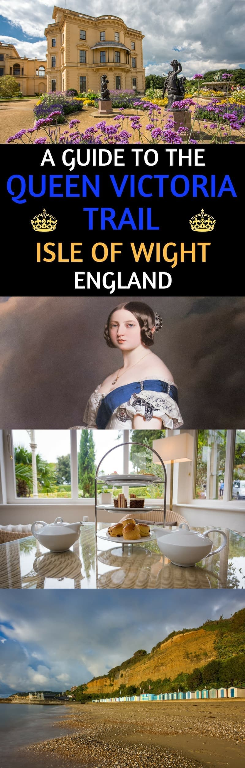 A guide to visiting the Isle of Wight in England and exploring sites related to Queen Victoria and the royal family. Guide covers over 20 sites and attractions from her former royal place, a medieval castle, scenic view points, and spots to have afternoon tea. #IsleofWight #England #QueenVictoria #IOW #IsleofWighttravel