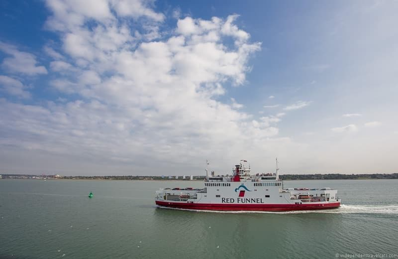 Red Funnel ferry visiting Isle of Wight Queen Victoria Trail sites