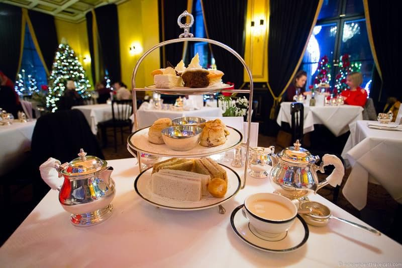 The Dome afternoon tea Christmas in Edinburgh Scotland December holidays