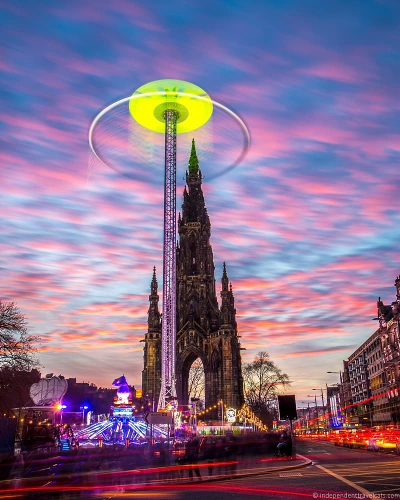 Starflyer Christmas in Edinburgh Scotland December