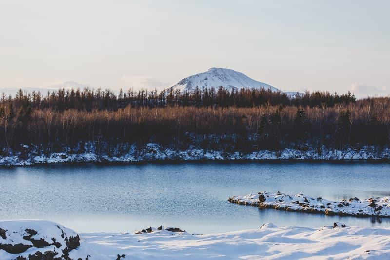 Lake Myvatn Iceland in winter activities day trips tours