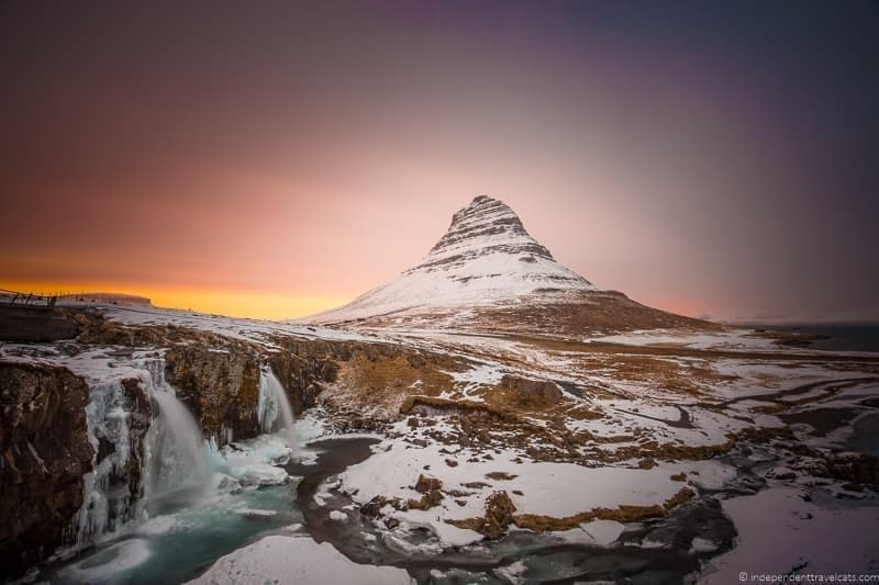 Kirkjufell mountain Iceland in winter activities day trips tours