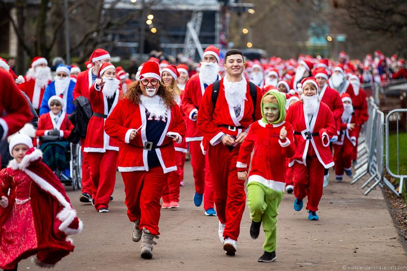 Edinburgh Santa Run charity event things to do in Edinburgh during Christmas December