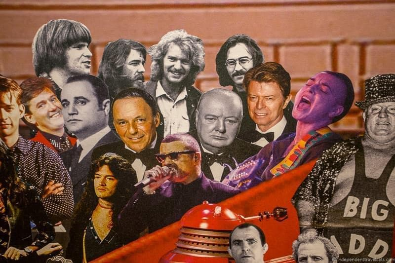 Royal Albert Hall mural Winston Churchill in London sites attractions England UK