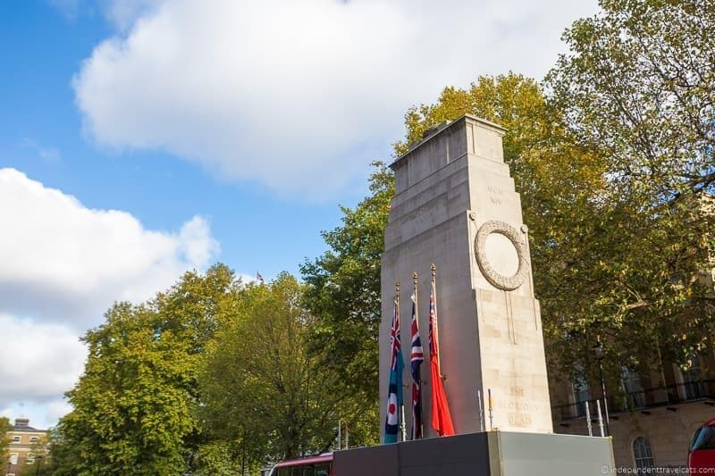 Cenotaph Winston Churchill in London sites attractions England UK