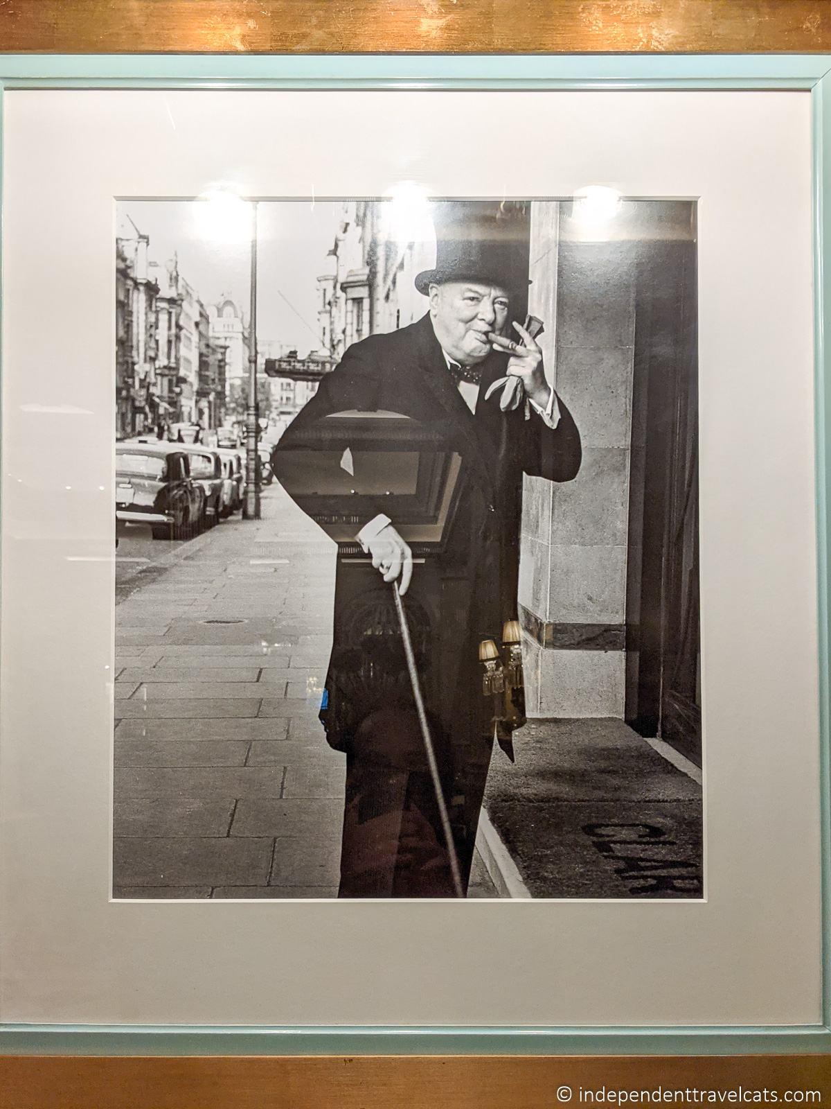 Winston Churchill at Claridge's Hotel London photo Churchill in London