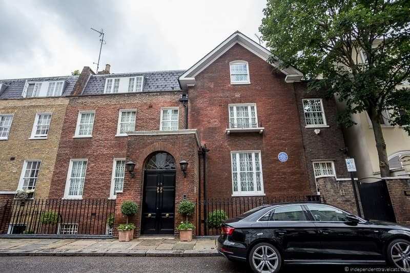 former home Winston Churchill in London sites attractions England UK