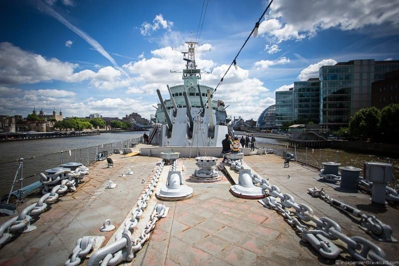 HMS Belfast Winston Churchill in London sites attractions England UK