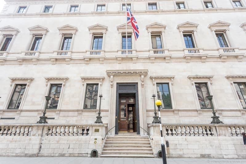 Reform Club Winston Churchill in London sites attractions England UK