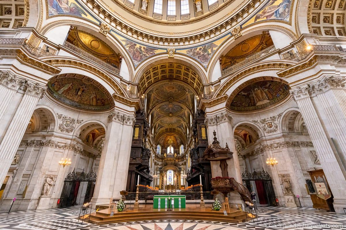 St. Paul's Cathedral altar catafalque plaque Winston Churchill plaque