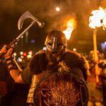 Viking torchlight procession Edinburgh Hogmanay in Edinburgh Scotland New Year's Eve festival