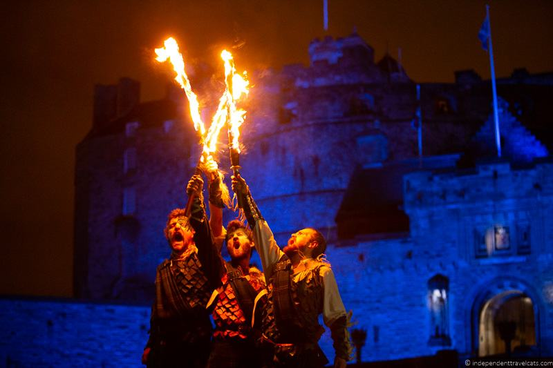 Pyroceltica Torchlight Procession Edinburgh Hogmanay Edinburgh Castle