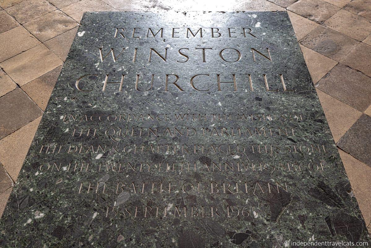 Winston Churchill memorial plaque in Westminster Abbey Churchill in London