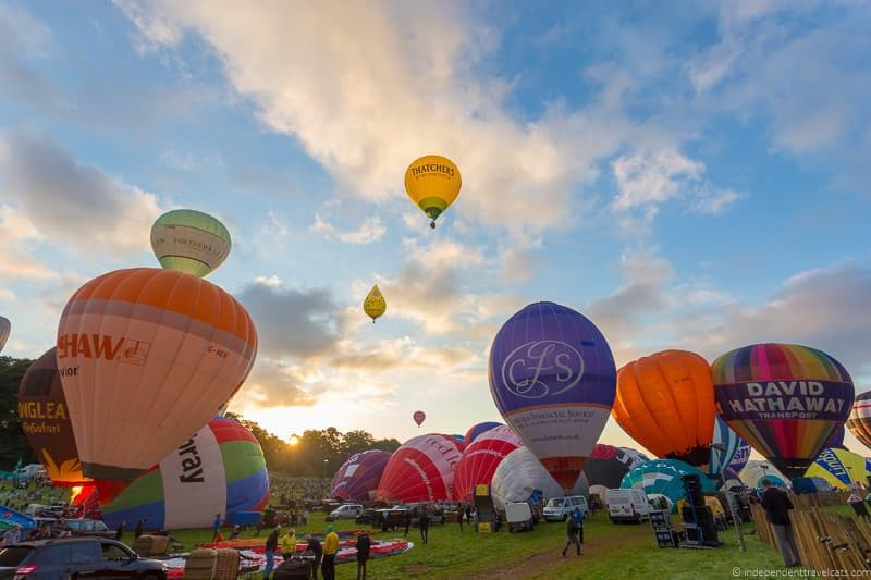 hot air balloons Bristol Balloon Fiesta England UK