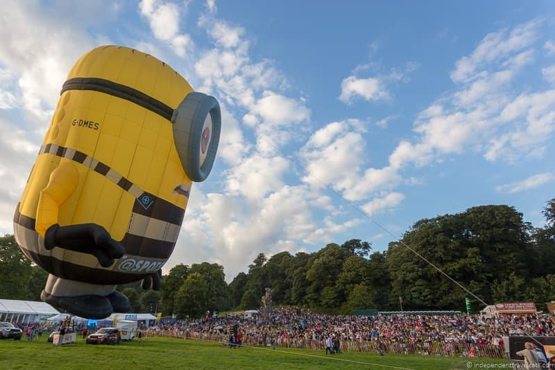 Stuart Minions hot air balloon Bristol Balloon Fiesta England UK